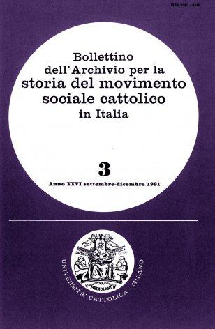 Azione sociale dei cattolici italiani prima e dopo la