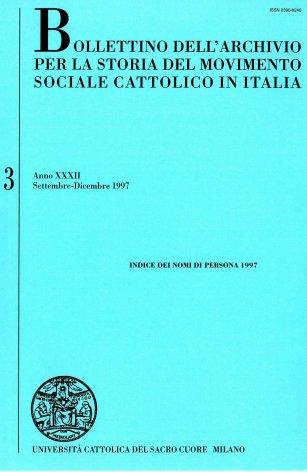 BOLLETTINO DELL'ARCHIVIO PER LA STORIA DEL MOVIMENTO SOCIALE CATTOLICO IN ITALIA - 1997 - 3.1. INDICE DEI NOMI DI PERSONA 1997