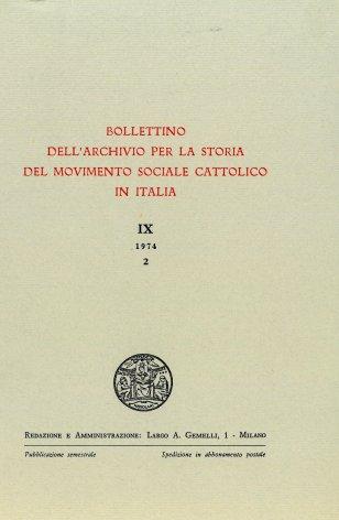 Capitalismo e socialismo nella cultura dei cattolici di fine '800. Appunti e note critiche