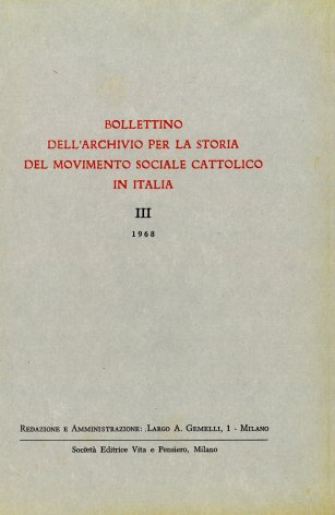Corrispondenza inedita del prof. Giuseppe Toniolo con mons. Antonio De Pol, vescovo di Vicenza