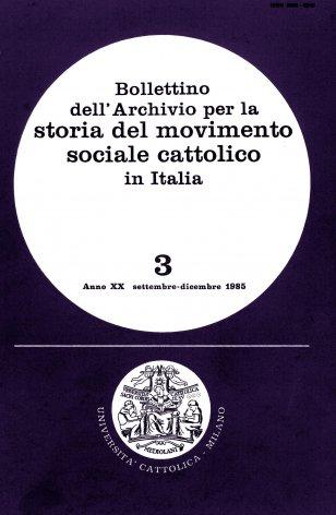 Elenco di pubblicazioni edite in Italia nel 1984 sulla cultura e l'azione economico-sociale dei cattolici italiani nel secondo dopoguerra