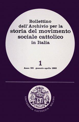 I cattolici italiani e i problemi economici e sociali del paese. I primi risultati di una ricerca