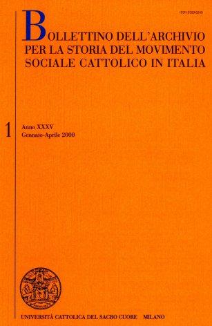 La storiografia sull'azione sociale e politica dei cattolici italiani tra Otto e Novecento. Elenco di pubblicazioni edite in Italia nel 1998