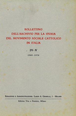 Primo elenco dei periodici cattolici a rilevante contenuto sociale editi nelle diocesi liguri dal 1860 al 1914
