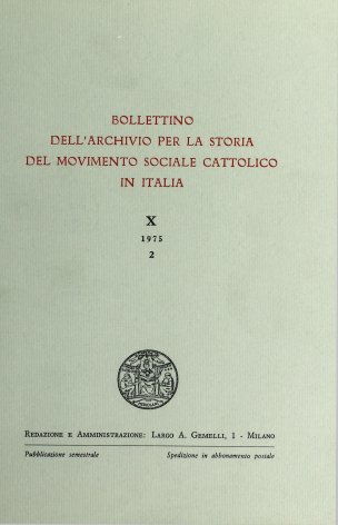 Un bilancio del primo quindicennio di vita unitaria italiana nella valutazione di un giornale cattolico napoletano